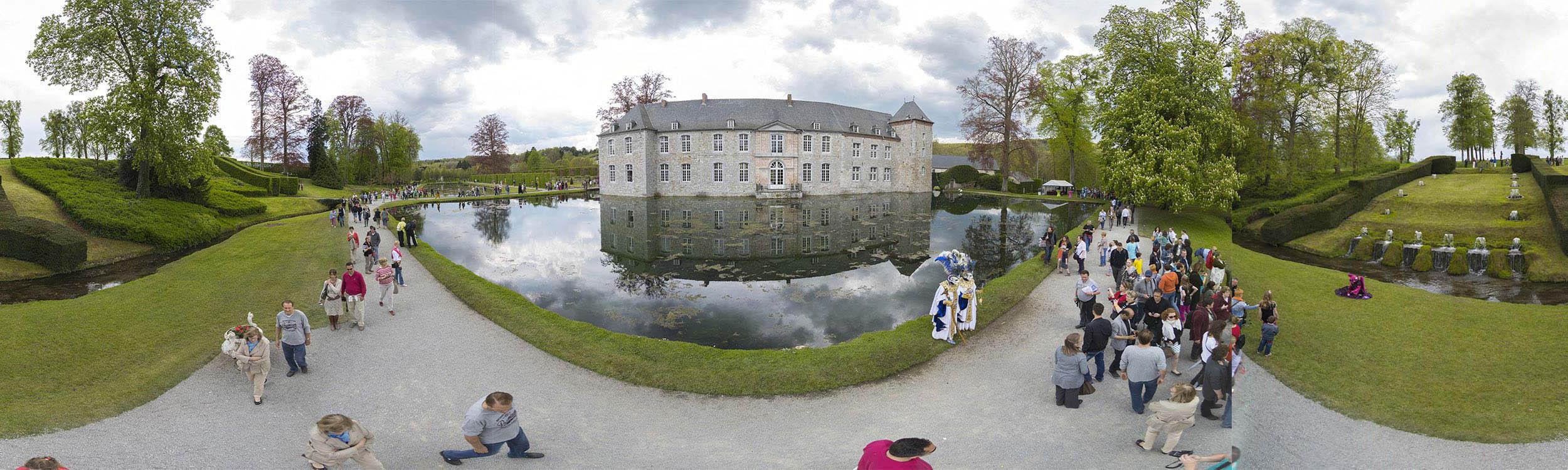 Jardin annevoie visite virtuelle 360 carnaval hainaut