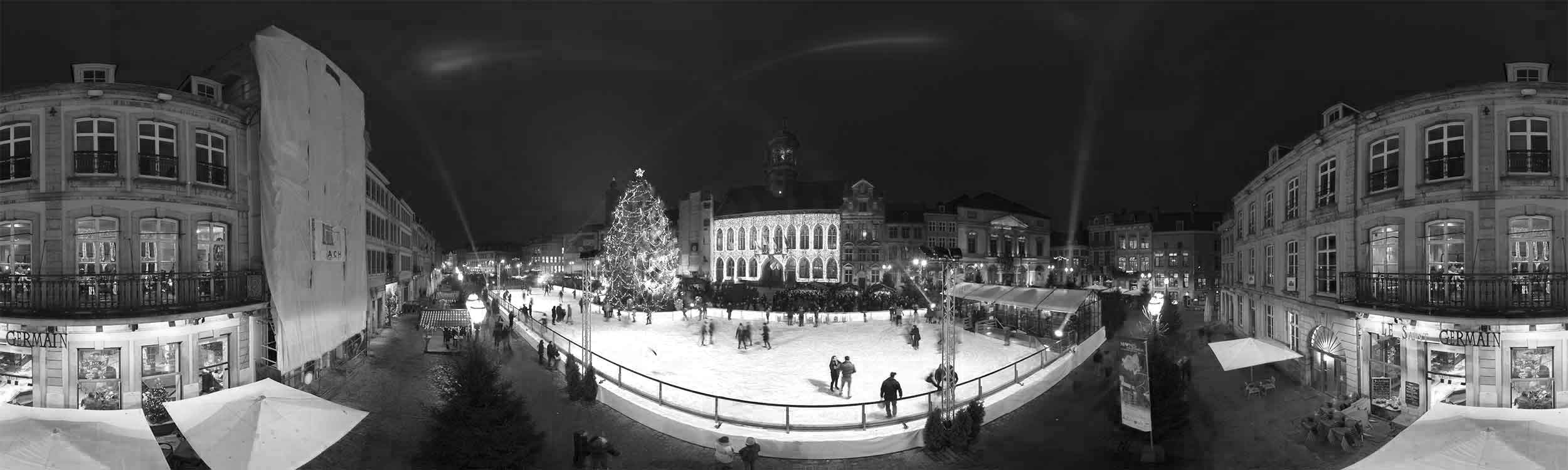 Mons coeur en neige visite virtuelle vue 360  black and white