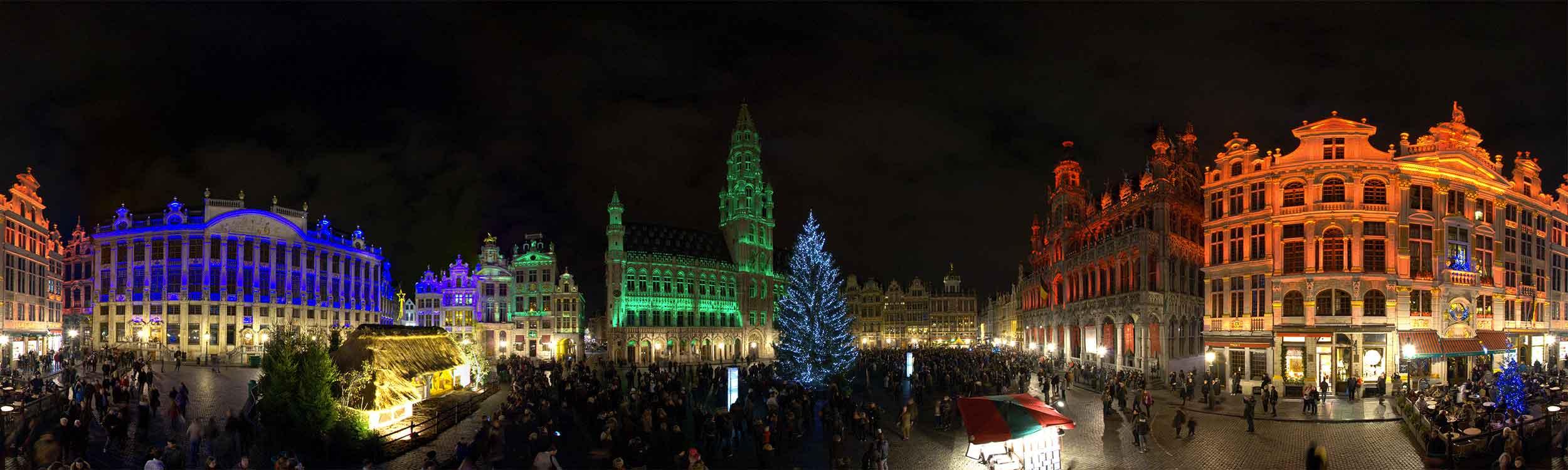 Grand place Bruxelles visite virtuelle nouvel an 360